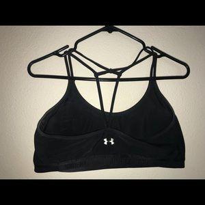 Under armor black sports bra